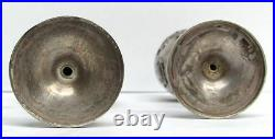 Fastinating Vintage Pair Silver Chinese Dragon Stemmed Liquor Cups