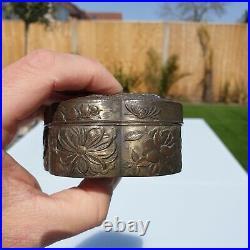 Fine Quality Antique Japanese Meiji 1868-1921 Metal Bronze Tin Dragon Box