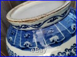 From Old House Estate Chinese Antique Blue and White Dragon Zun Vase Asian China