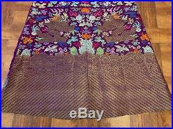 Genuine Antique Qing Dynasty Chinese Silk Metallic Brocade 9 Dragon Court Robe