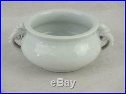Good Kangxi 1662 1722 Chinese Blanc De Chine Dragon Handle Censer