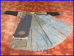 Magnificent Very Large Antique Chinese Dragon Robe Kesi Dragon 83 In X 54 In