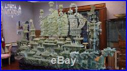 Massive Approx. 2,000 lbs, Chinese Heavily Carved Jade Dragon Ship