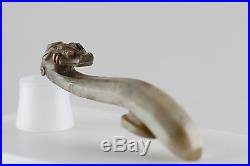 Ming Dynasty Chinese Antique Jade Dragon Belt Hook