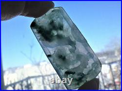 Natural Genuine A Jadeite Jade Icy Floral Green Dragon and Phoenix Pendant