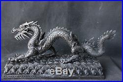 Old Ancient Chinese Folk antique Copper Bronze statue Zodiac Dragon Sculpture