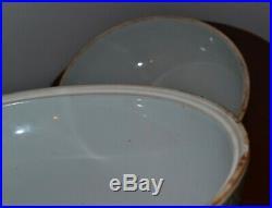 Old or Antique Chinese Famille Verte Large Porcelain Circular Box Dragon Mark