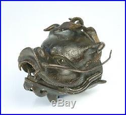 Rare Antique Chinese Dragon and Carp Censer 17th Century