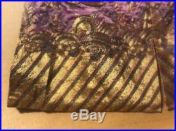 Rare Antique Chinese Imperial Dragon Childs Robe Gold Embroidery Art Wow Framed
