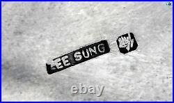 Rare Antique Zee Sung Shanghai Chinese Asian Silver Dragon Cigarette Case