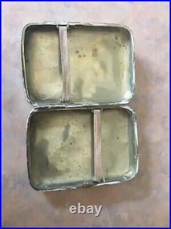 Rare Chinese Asian Silver Cigarette case Dragon Decoration