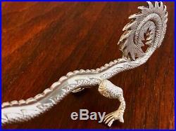 - Rare Hung Chong Chinese Export Sterling Silver Dragon Spoon Shanghai 18601930
