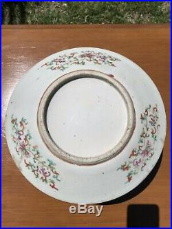 Rare Superb Large Antique Chinese Famille Rose Dragon Plate