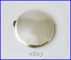 Sterling Silver Chinese Dragon Powder Compact Pocket Mirror. Lee Yee Hing c1930