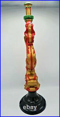 Stunning Antique Heavy Cast Iron Chinese Dragon Table Lamp by Roger Pradier