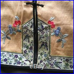 Superb Antique Chinese Silk Jacket & Trousers Gold Thread Dragons Design