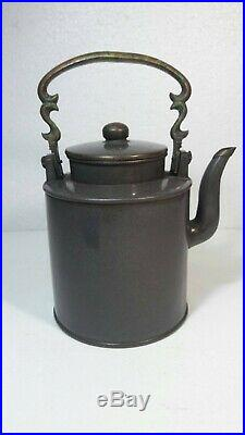 Superb Antique Chinese Yixing Zisha Pottery Teapot With Chinese Dragon Marked
