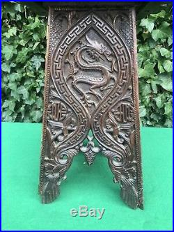 Superb Antique Wooden Chinese Dragon Hand Carved Table