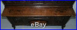 Very Rare Circa 1900 Hand Carved Chinese Export Sideboard Dragons & Serpents