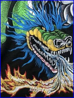 Vintage Liquid Blue 1994 Blue Hair Dragon Chinese New! Rare